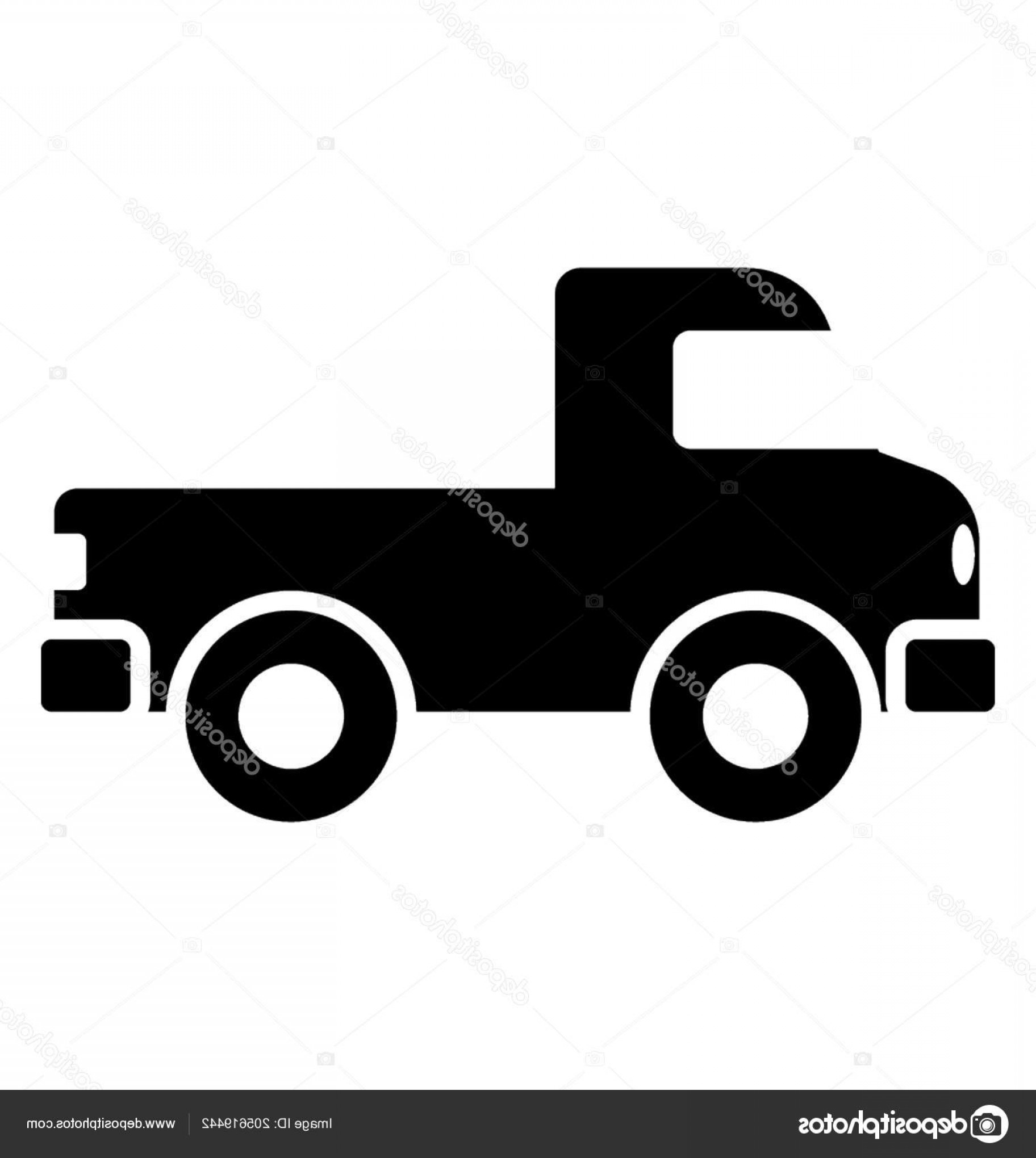 4 Wheeler Vector Art: Stock Illustration Four Wheeler Loader Back Representing