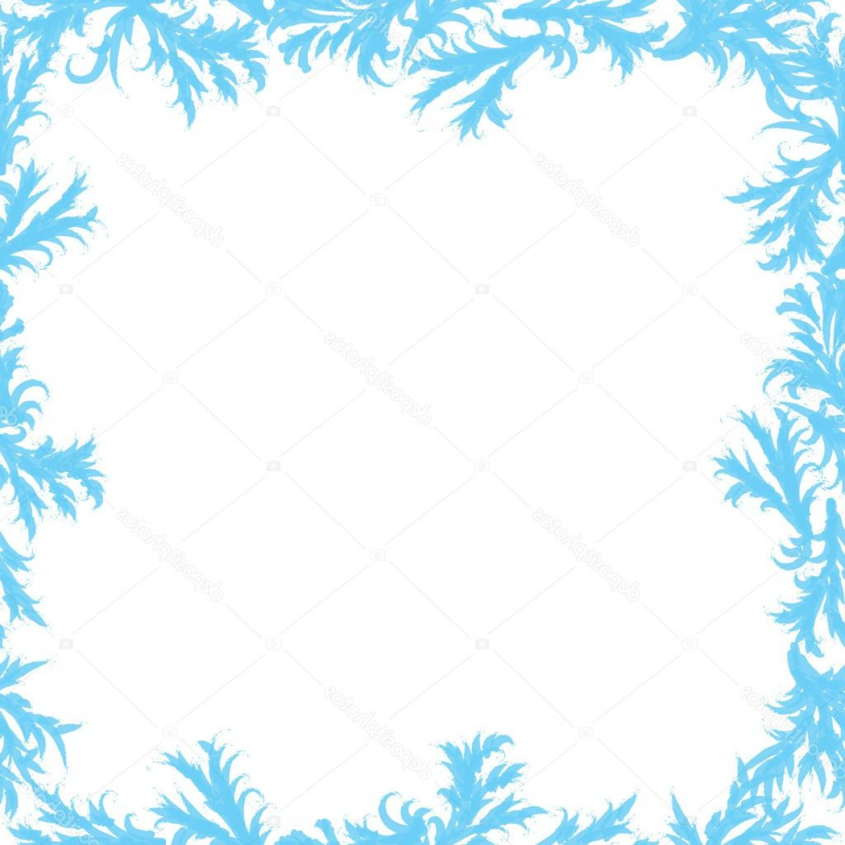 Frost Border Vector: Stock Illustration Frame Of Frost Patterns