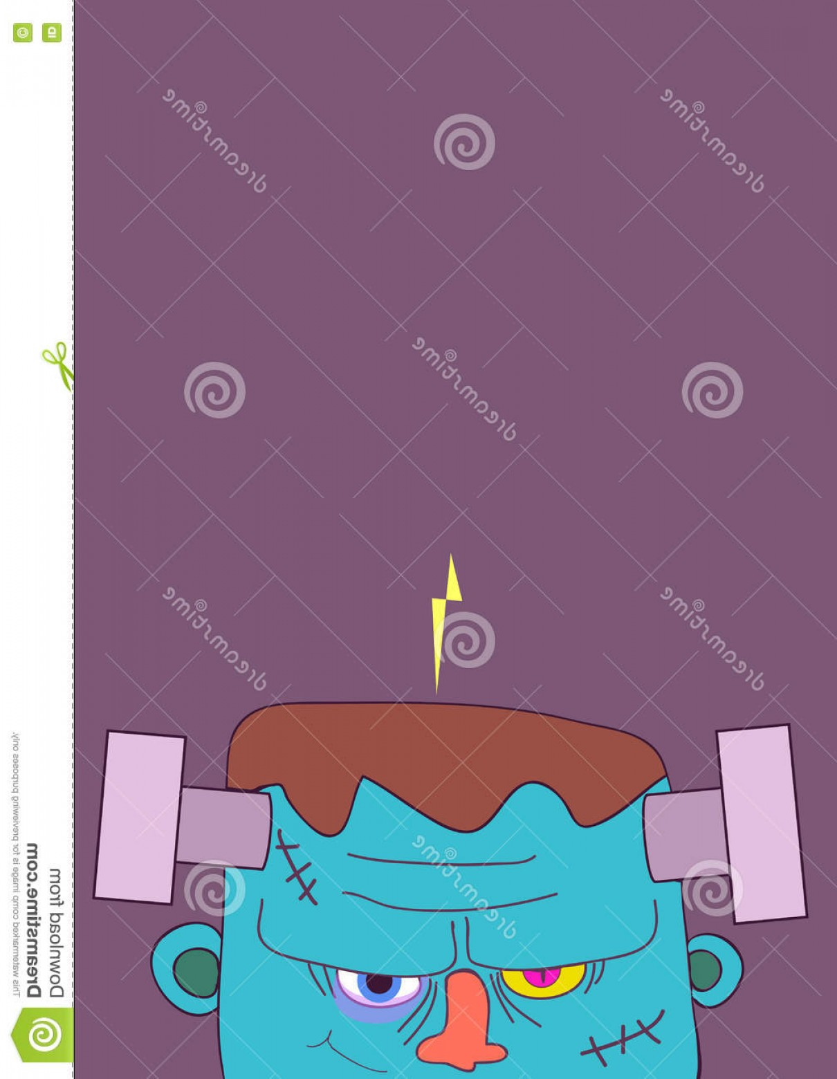Frankenstein Vector Poster: Stock Illustration Frankenstein Halloween Poster Vector Illustration Image
