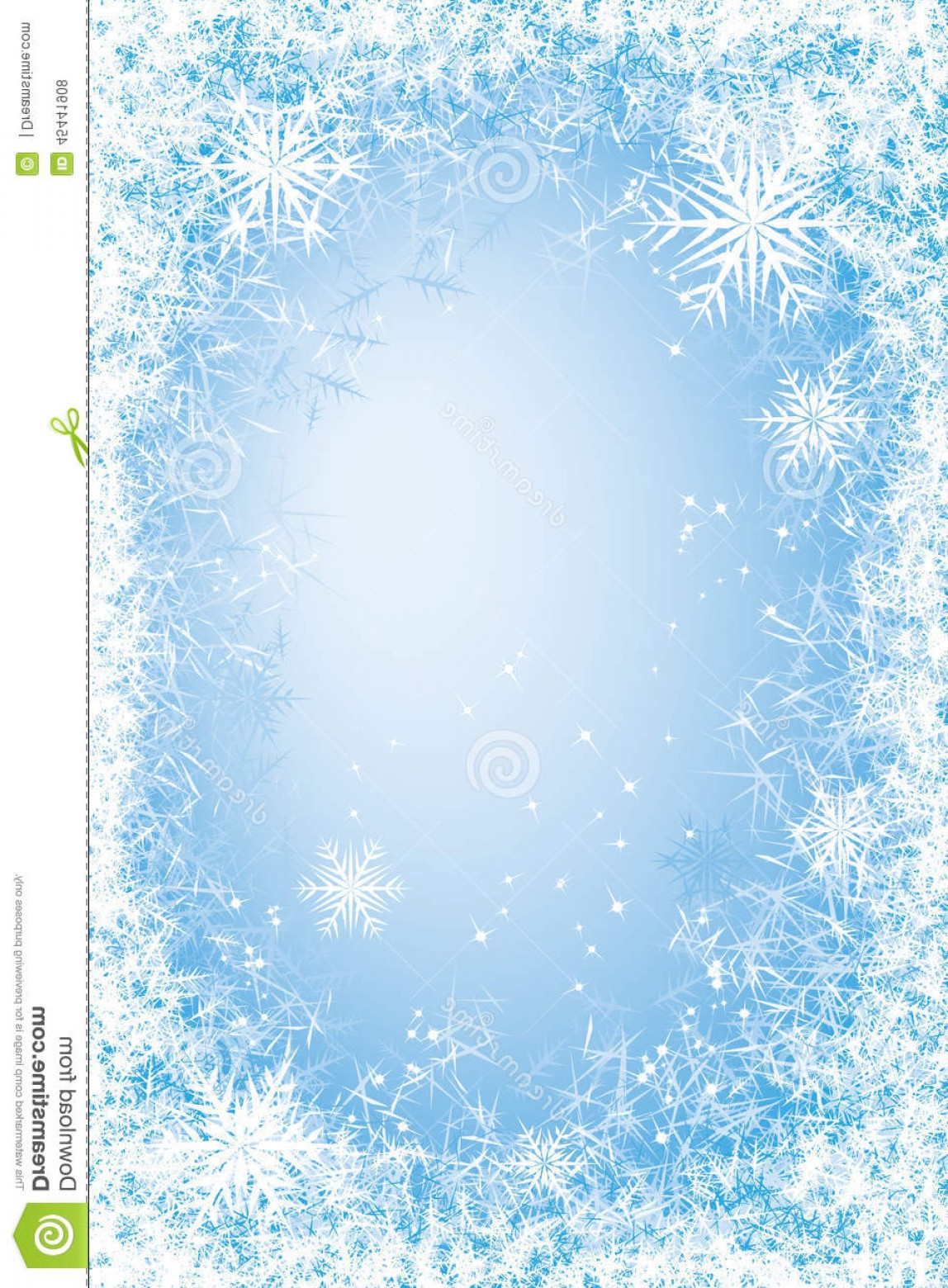 Frost Border Vector: Stock Illustration Frost Frame Light Blue Frosted Window Eps Cmyk Global Color Organized Layers Gradients Used Image