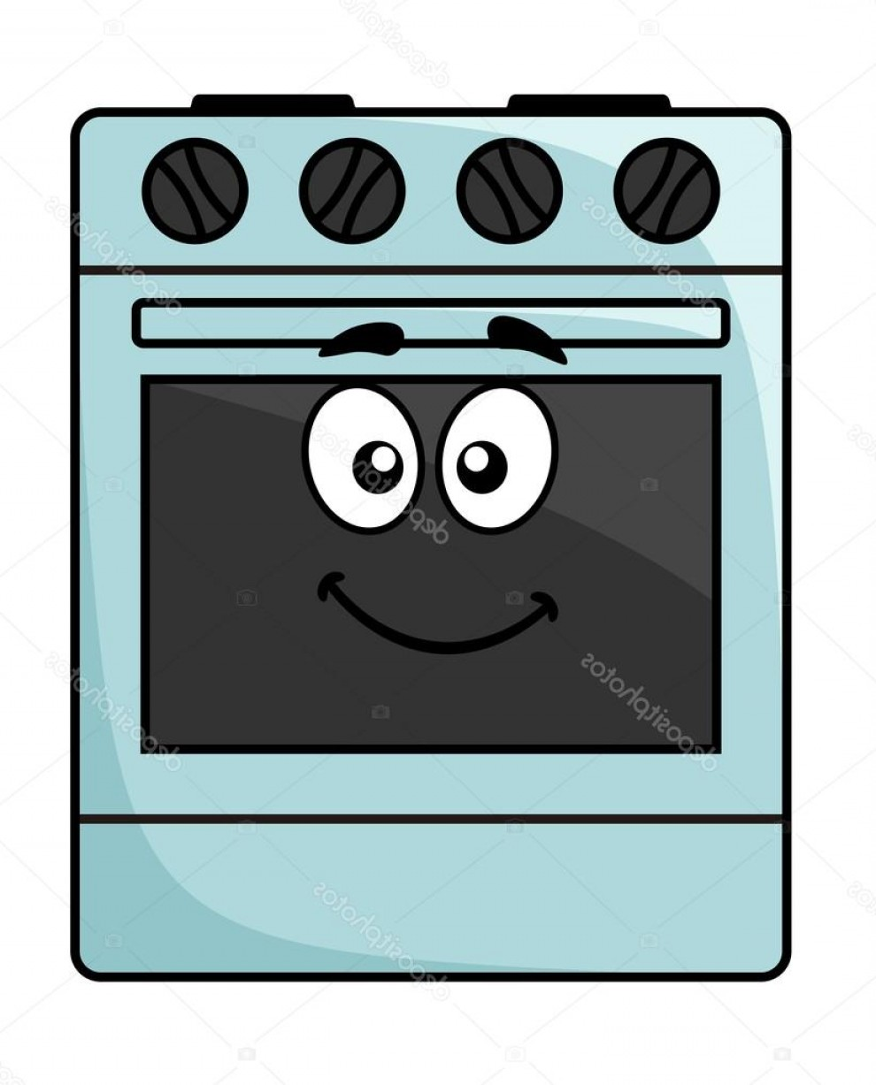 Happy Oven Vector: Stock Illustration Fun Kitchen Appliance A Happy