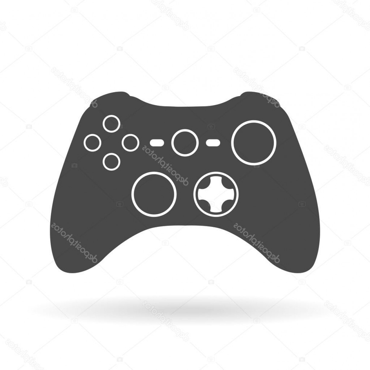 Xbox Game Controller Vector: Stock Illustration Game Controller Flat Icon