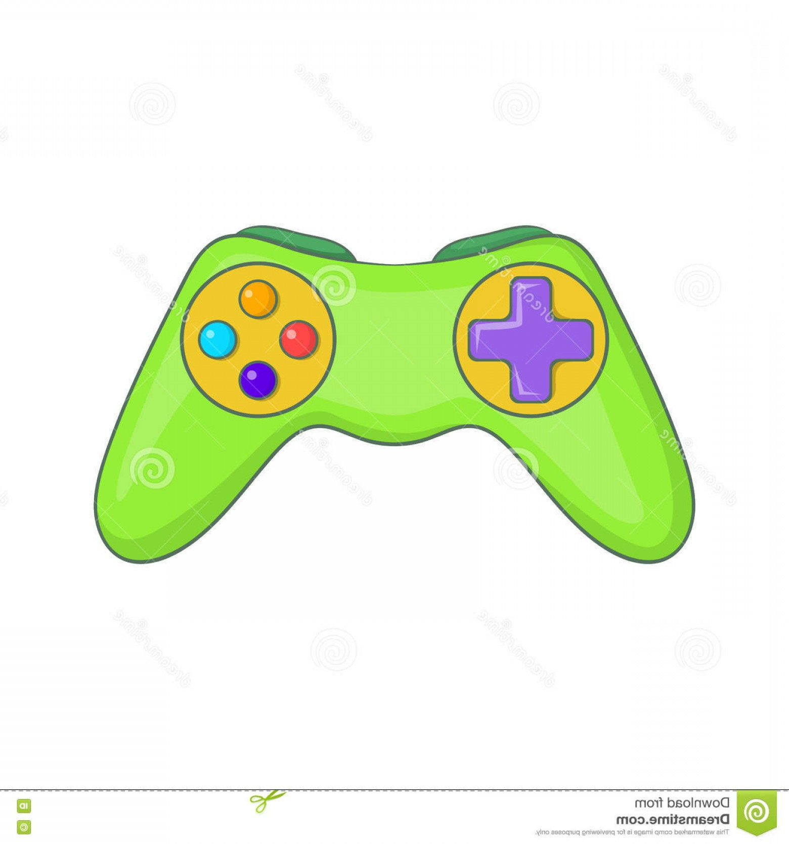 Xbox Game Controller Vector: Stock Illustration Game Controller Icon Cartoon Style Illustration Vector Web Design Image