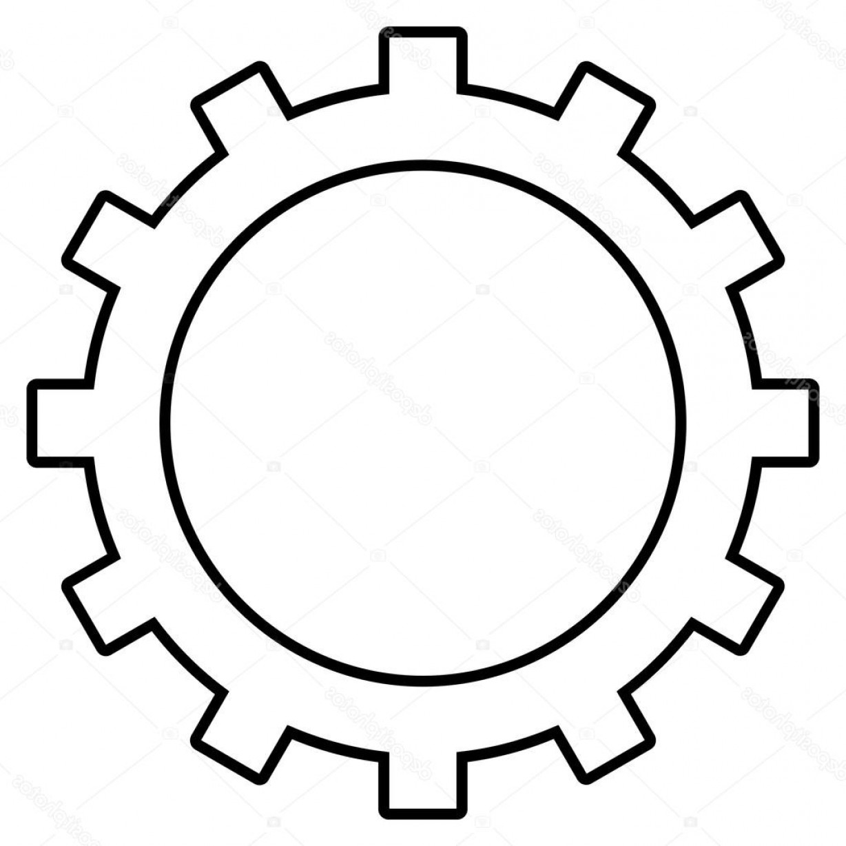 Vector Gear Graphics: Stock Illustration Gear Outline Vector Icon
