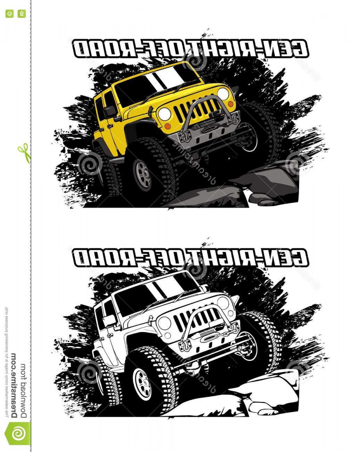 Jeep Off-Road Vector Art: Stock Illustration Gen Right Offroad Vector Jeep T Shirt Logo Etc Image
