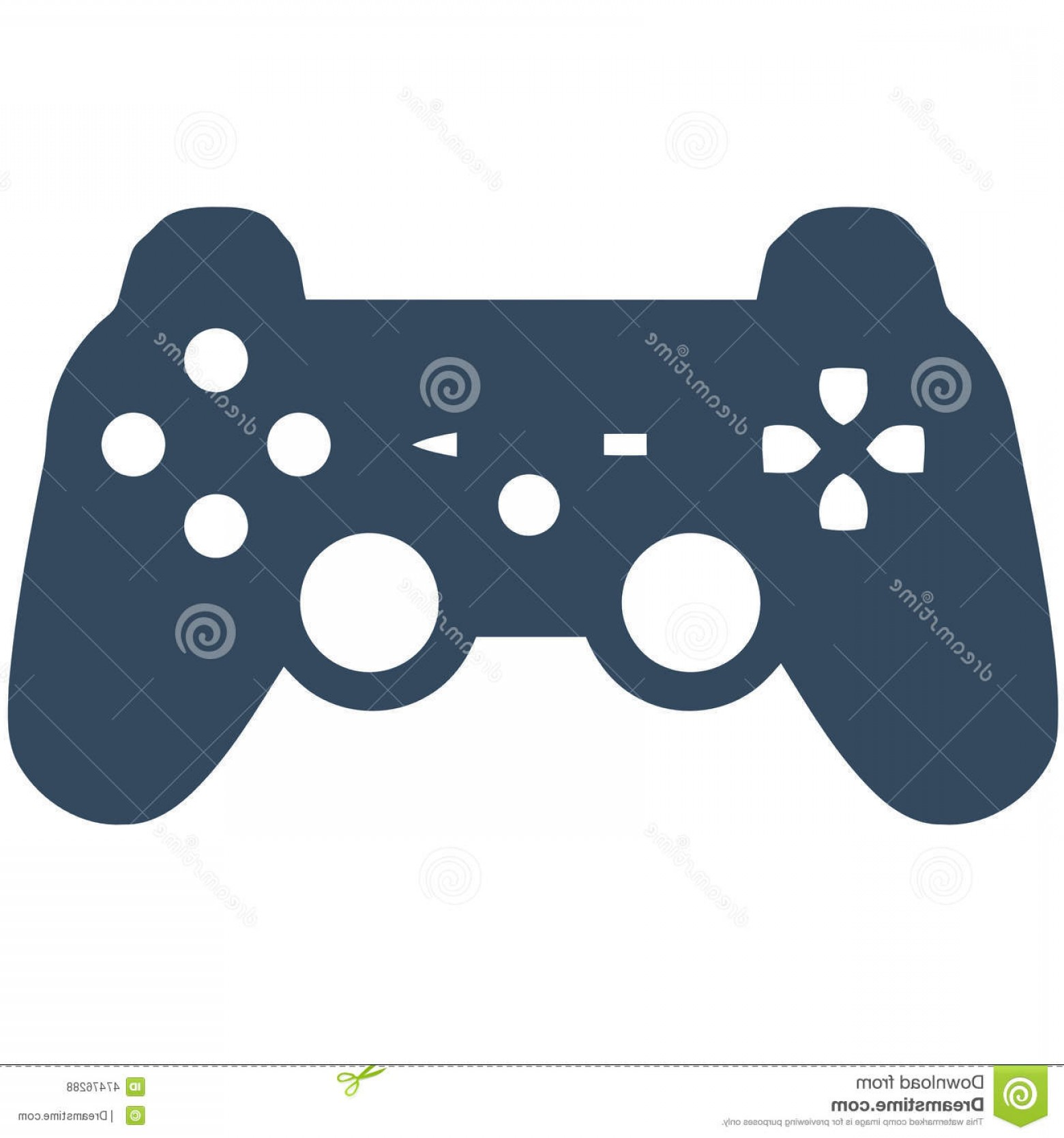 Xbox Game Controller Vector: Stock Illustration Genesis Megadrive Game Controller Vector Silhouette Ideal Webpage Icons Font Image