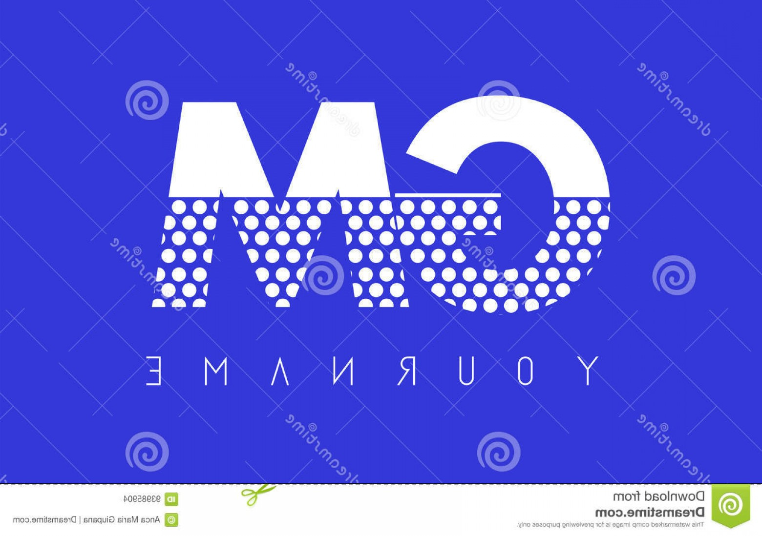 GM Logo Vector: Stock Illustration Gm G M Dotted Letter Logo Design Blue Background Pattern Vector Image