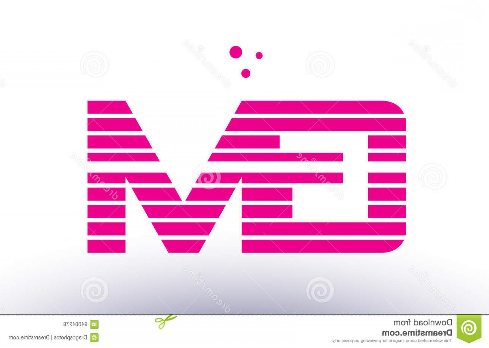 GM Logo Vector: Stock Illustration Gm G M Pink Purple Line Stripe Alphabet Letter Logo Vector Templ Company Design Template Creative Abstract Image