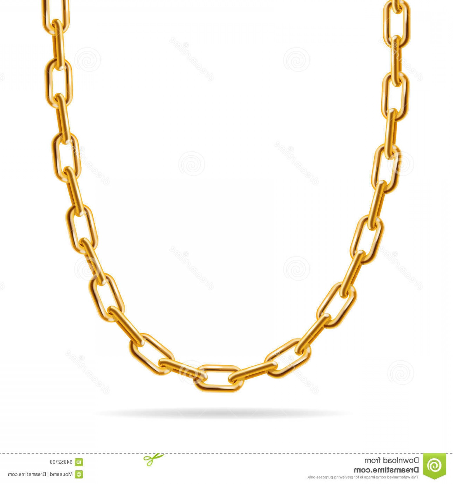Necklace Vector Chain Grapicts: Stock Illustration Gold Chain Jewelry Vector Fashion Design Illustration Image