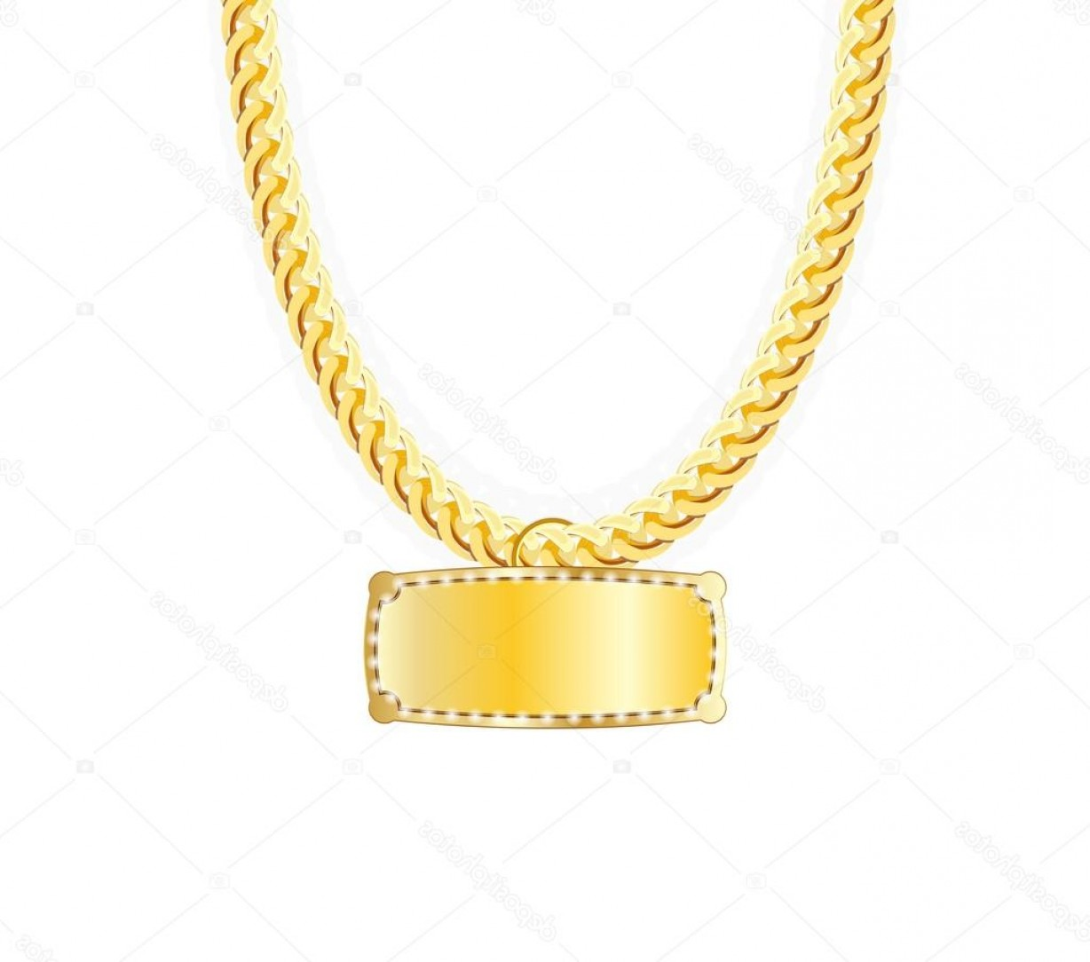 Necklace Vector Chain Grapicts: Stock Illustration Gold Chain Jewelry Whith Gold