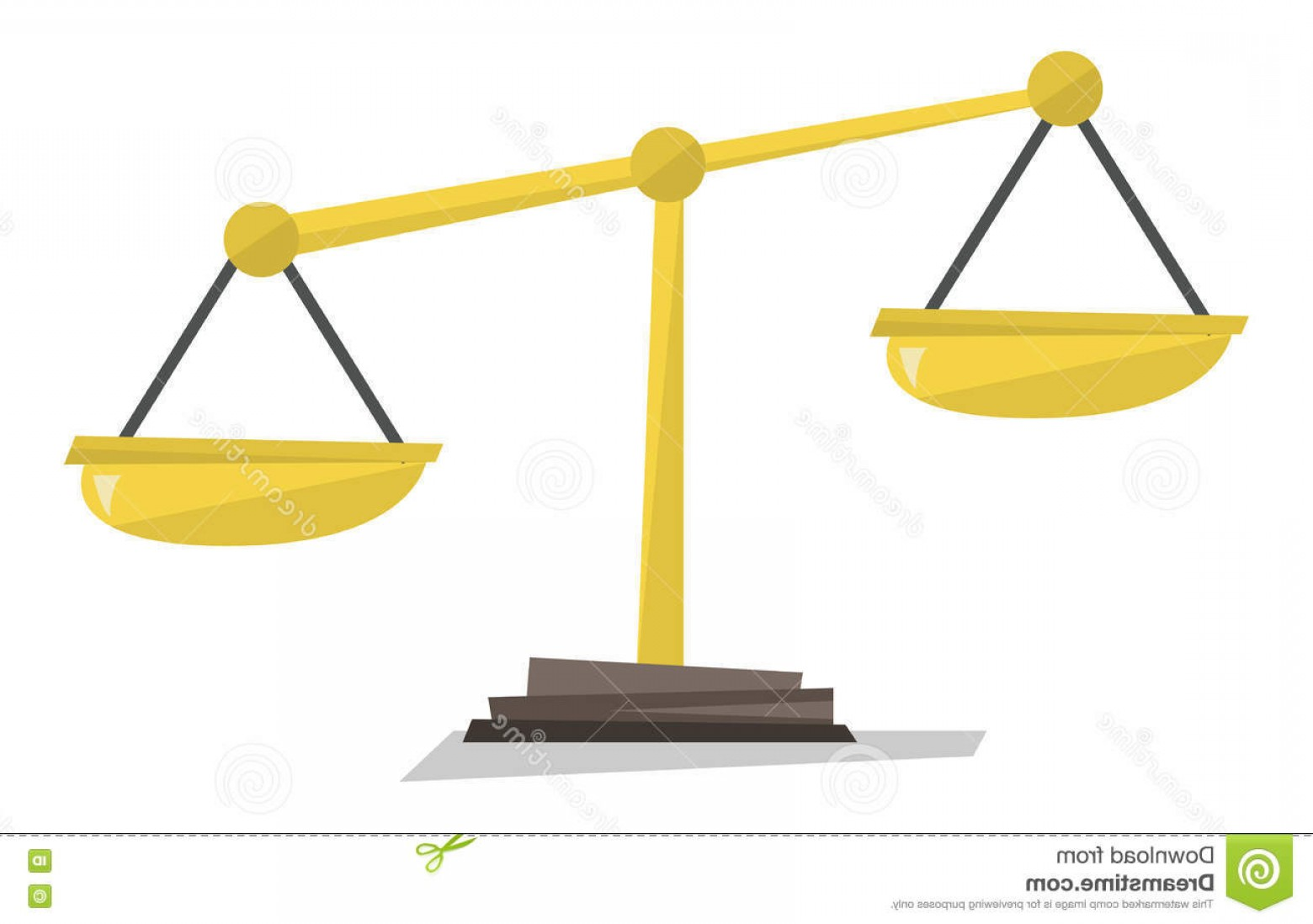 Scales Of Justice Vector: Stock Illustration Gold Scales Justice Vector Illustration Flat Design Isolated White Background Image