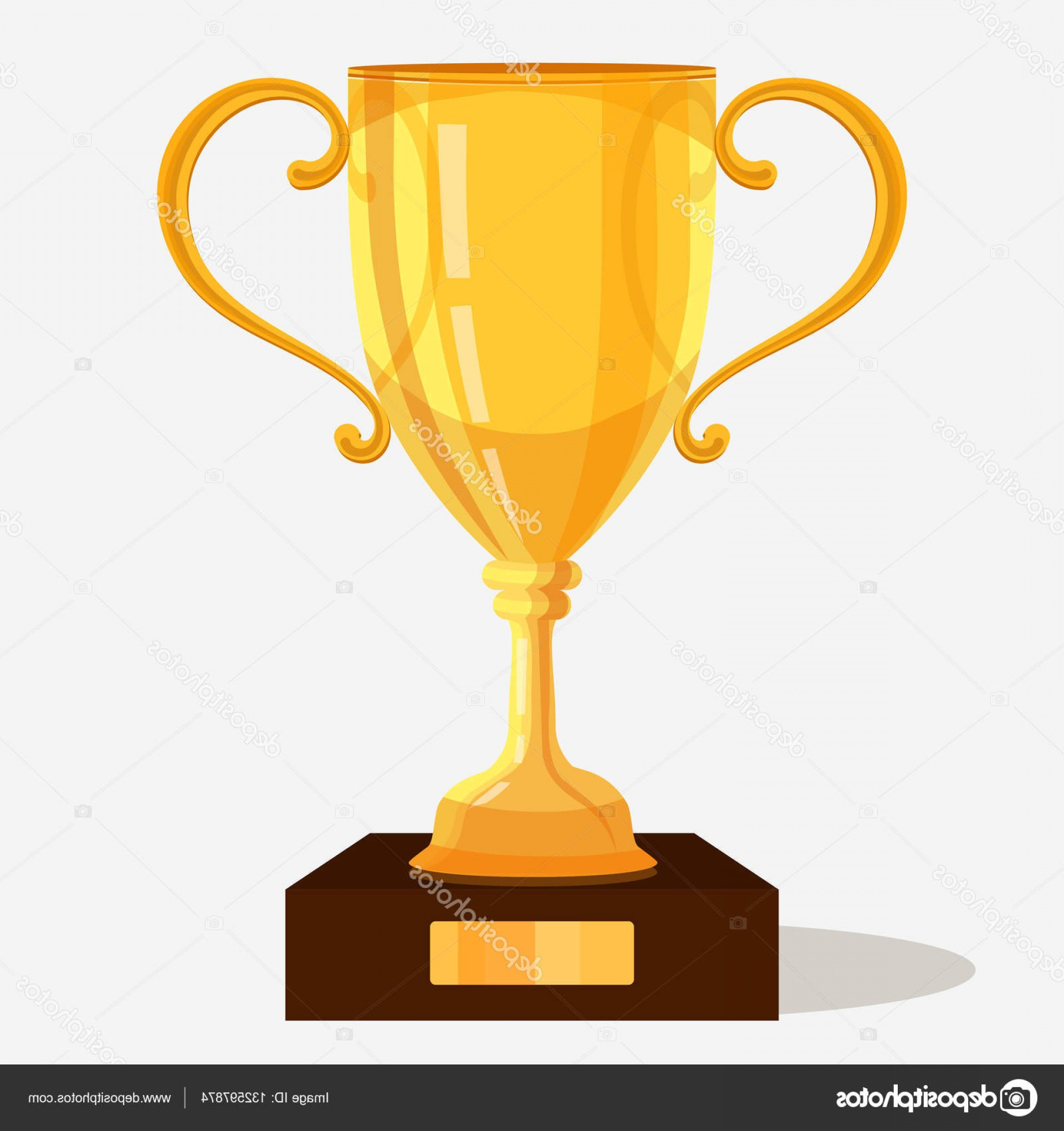Gold Trophy Vector: Stock Illustration Gold Trophy Cup Vector