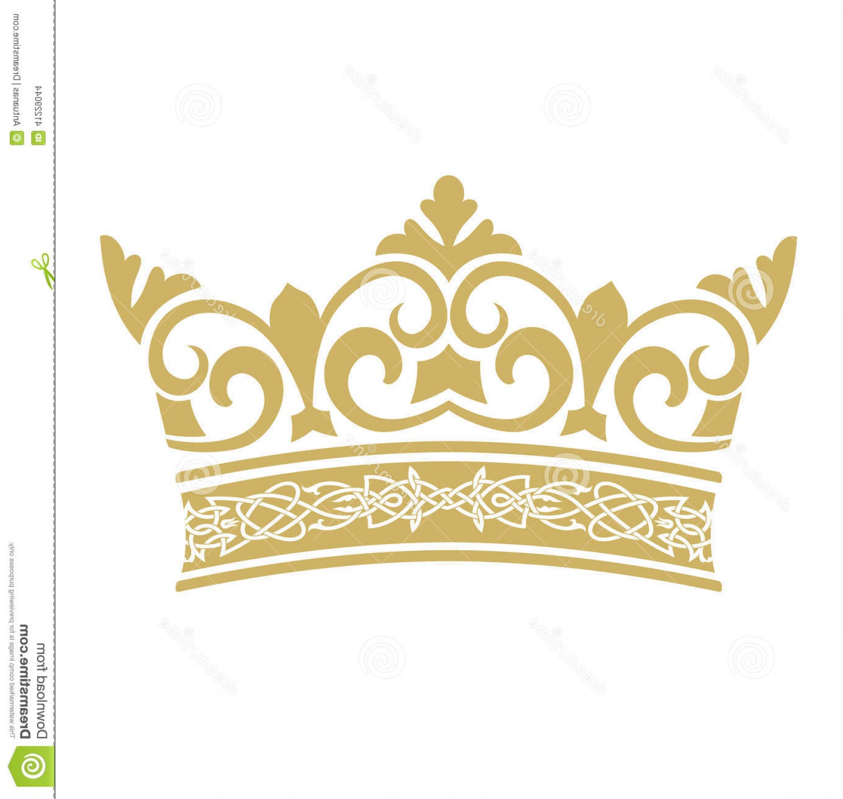 Crown Vector Clip Art: Stock Illustration Golden Crown Vectors Vector Format White Background Image