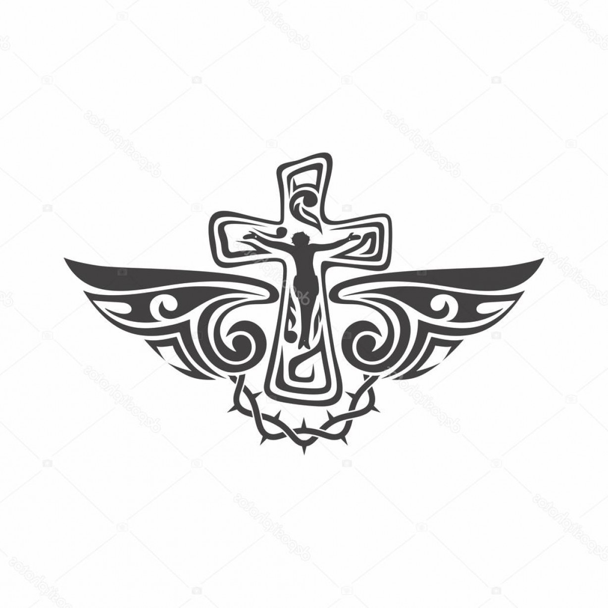 Gothic Religious Vector: Stock Illustration Gothic And Tattoo Marks Christian