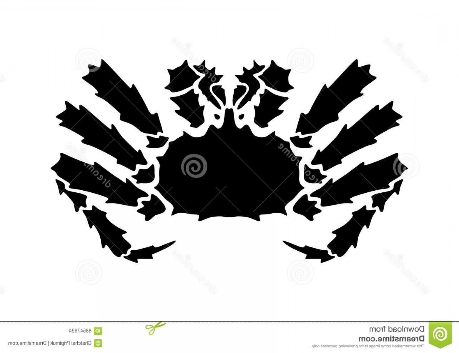 Crab Vector Black: Stock Illustration Graphic Alaska Crab Vector Illustration Black White Background Image