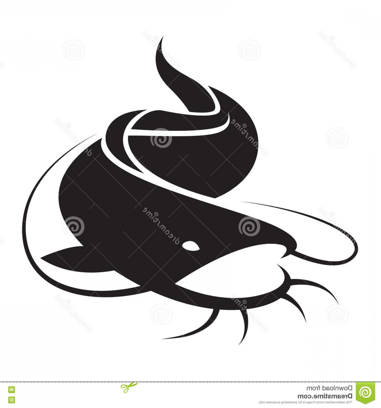 Catfish Vector Logo: Stock Illustration Graphic Catfish Vector White Background Image