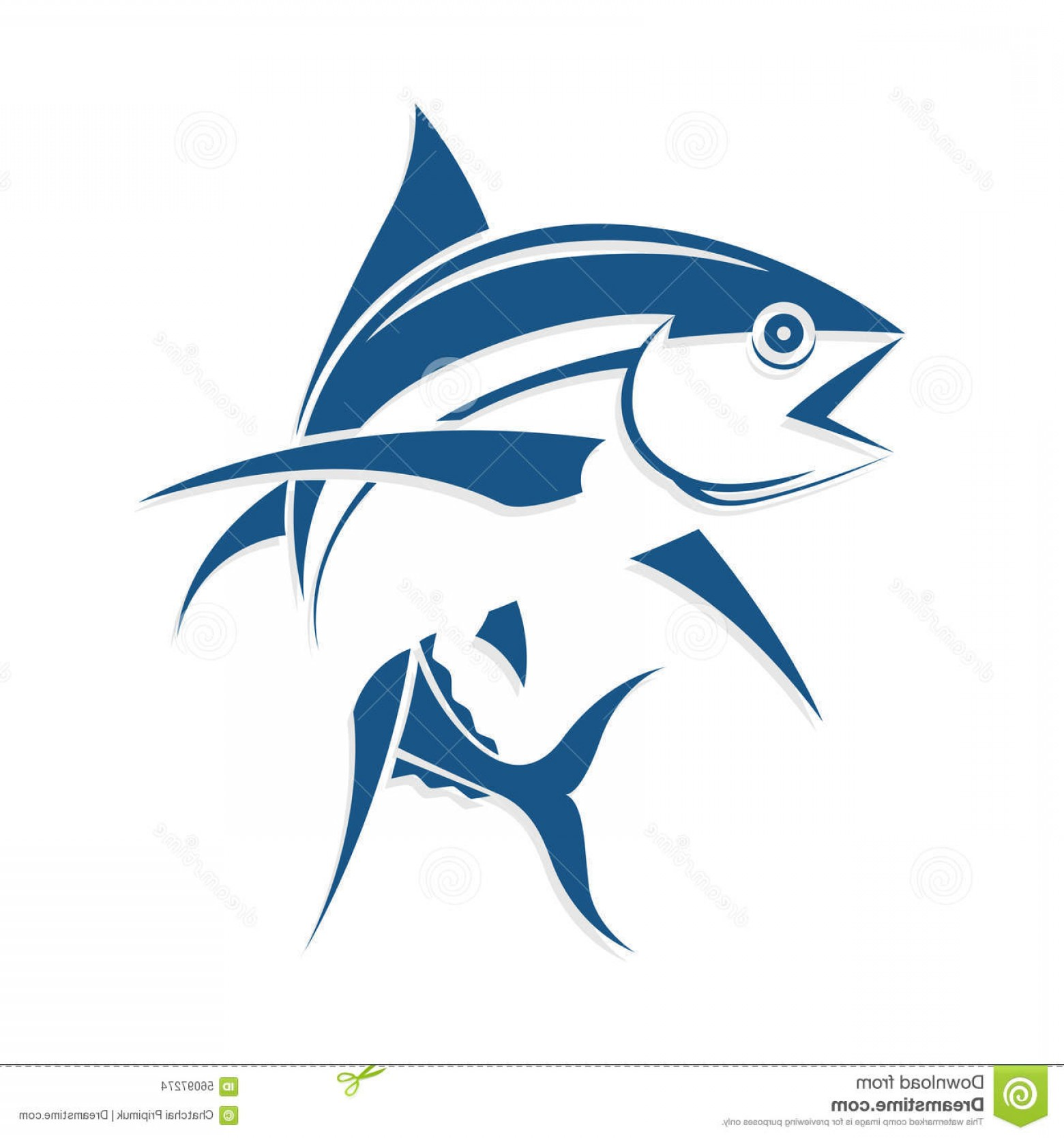 Fish Vector Graphic: Stock Illustration Graphic Fish Tattoo Style Vector Beautiful Eps Image