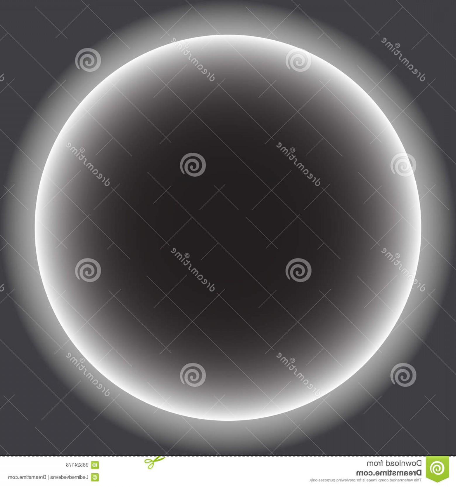 Whitew Eclipse Vector: Stock Illustration Gray Circle White Halo Solar Eclipse Vector Illustration Image