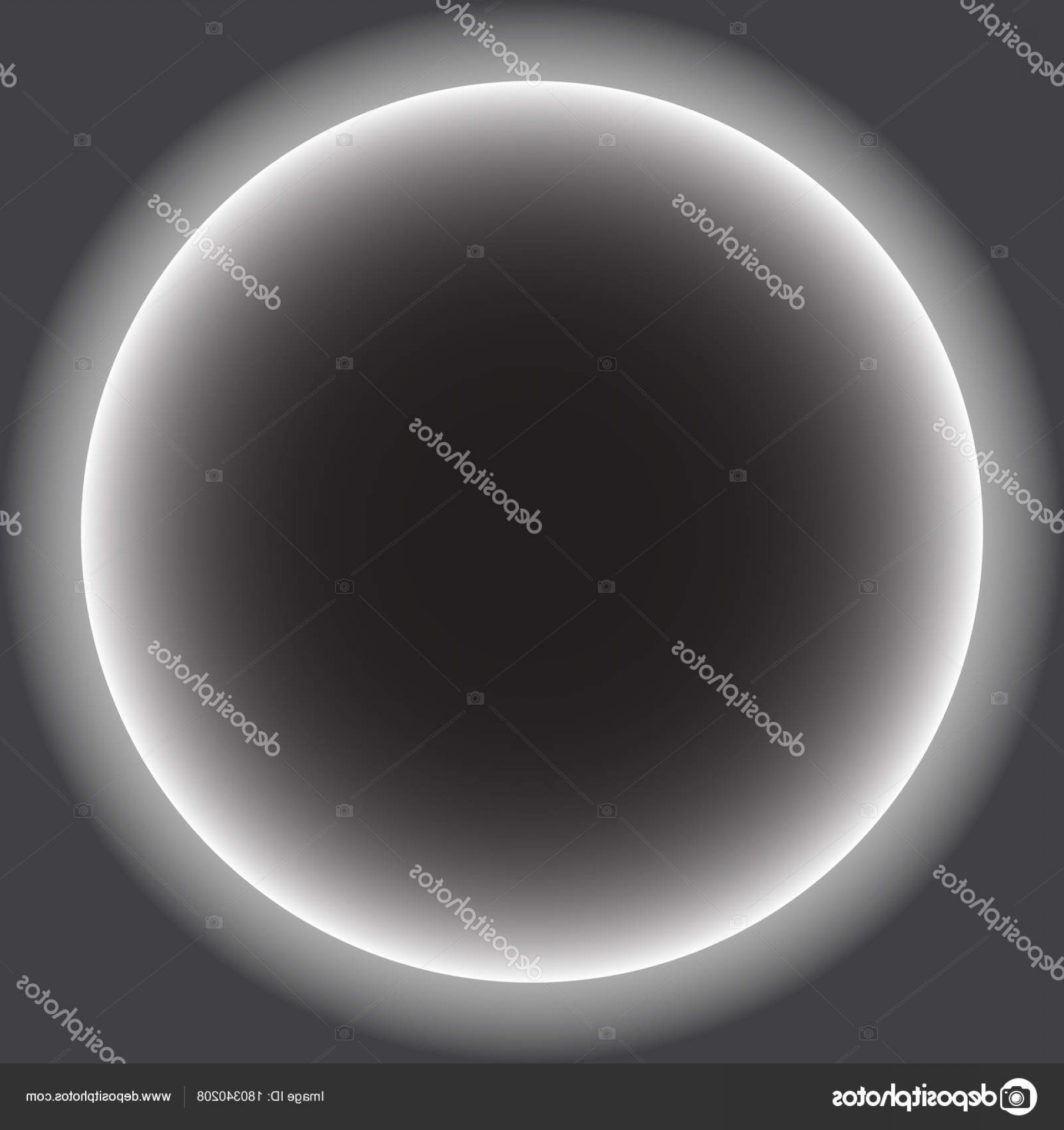Whitew Eclipse Vector: Stock Illustration Gray Circle With White Halo