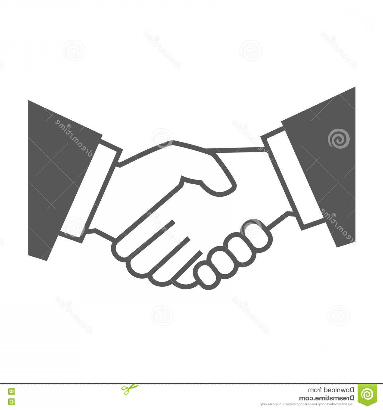 Handshake Clip Art Vector: Stock Illustration Gray Handshake Icon White Background Vector Illustration Image