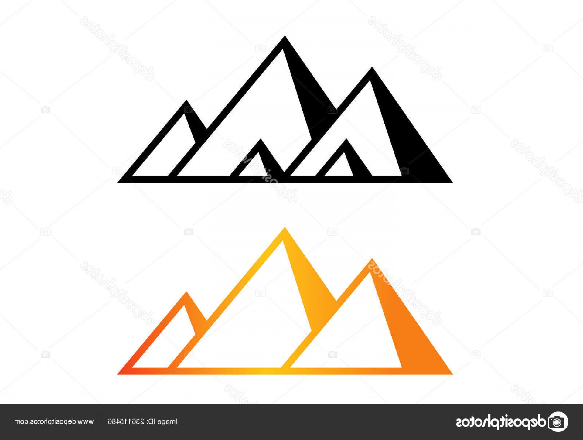 Piramids Vector Art: Stock Illustration Great Pyramid Giza Logo Icon