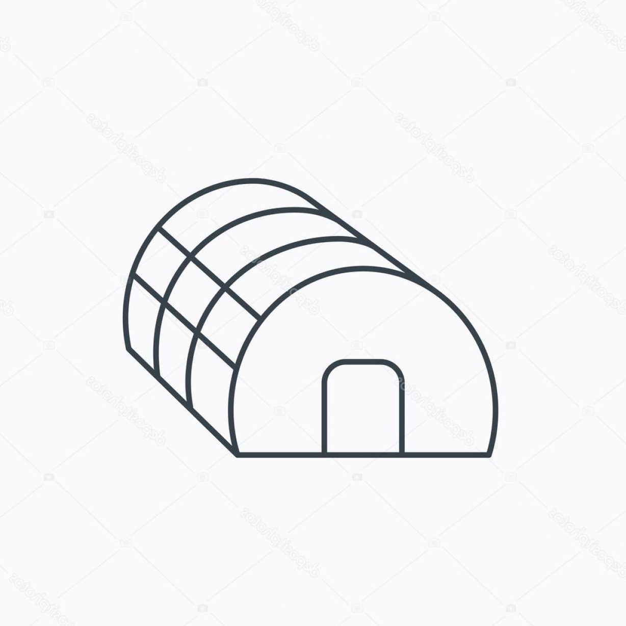 Black And White Vector Greenhouse: Stock Illustration Greenhouse Complex Icon Hothouse Building