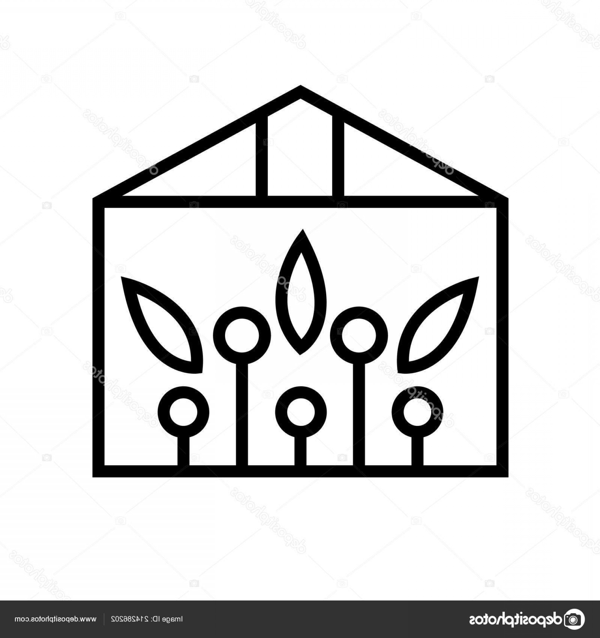 Black And White Vector Greenhouse: Stock Illustration Greenhouse Icon Vector Isolated On