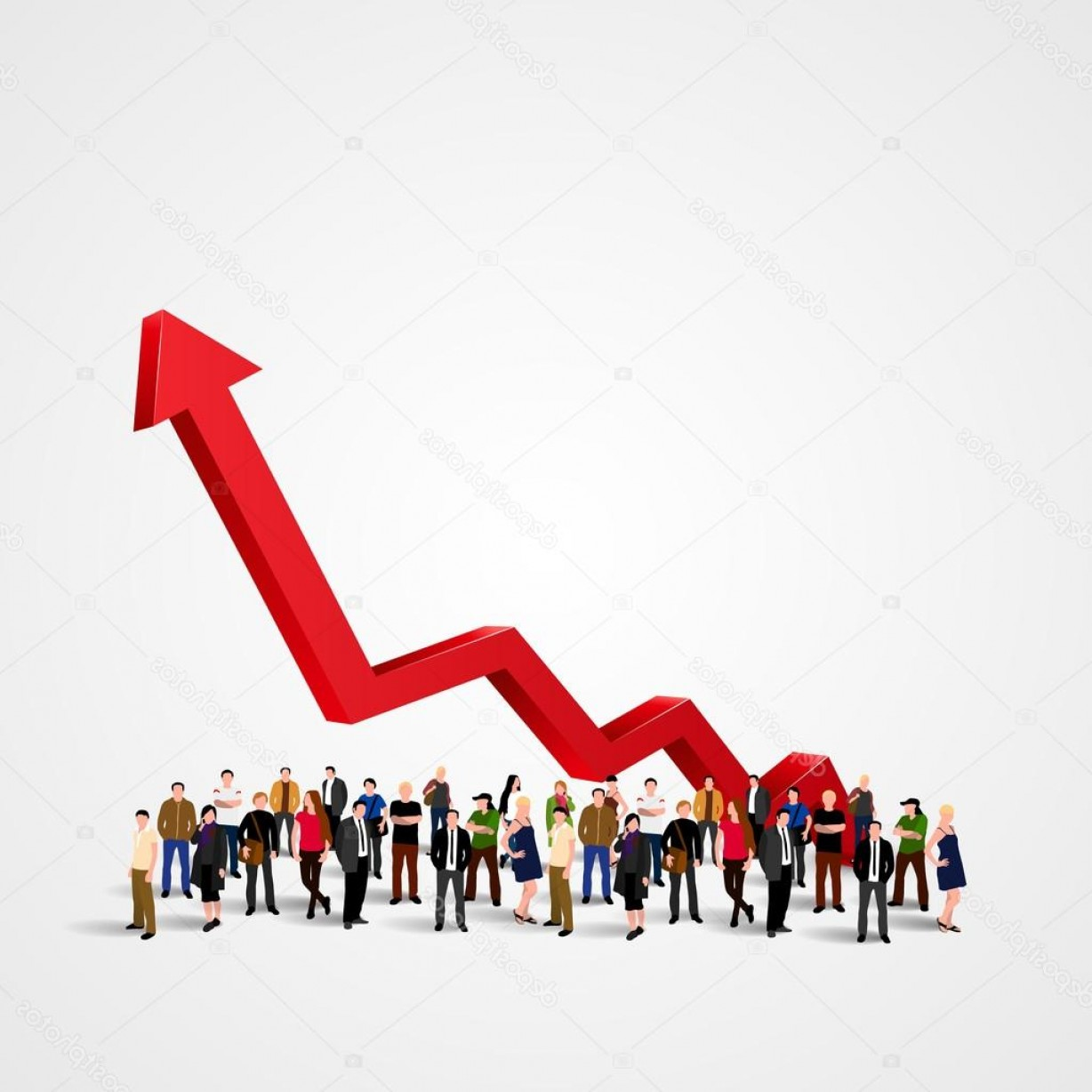Growth Vector People: Stock Illustration Growth Chart And Progress In