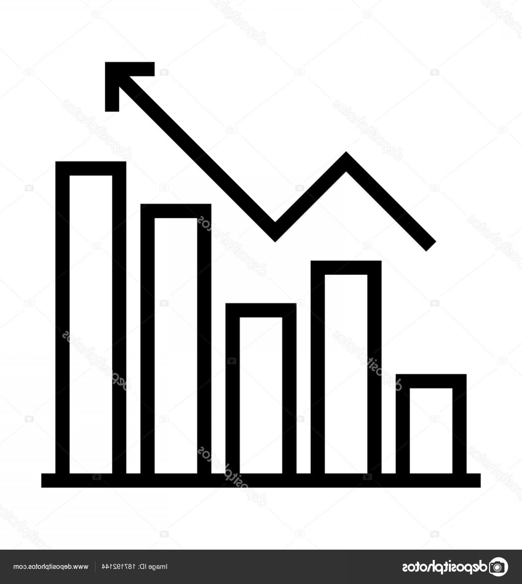 In Icon Stock Vector: Stock Illustration Growth Graph Vector Icon