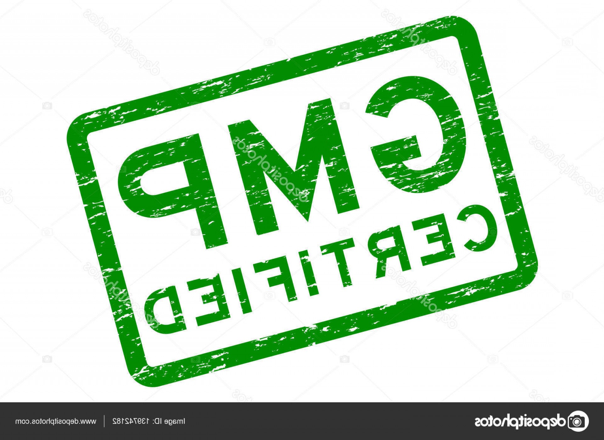 GMP Logo Vector: Stock Illustration Grunge Green Gmp Good Manufacturing