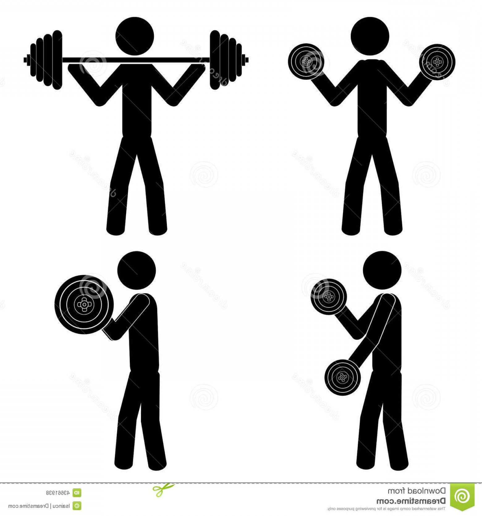 Vector Weight Lifting: Stock Illustration Gym Weight Lift Weights Stick Figure Vector Eps Image