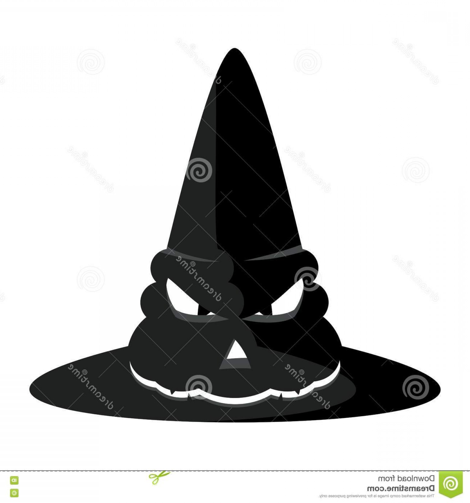 Halloween Witch Hat Vector: Stock Illustration Halloween Witch Hat Vector Black Witches Party Poster Icon Design Elements Advertising Promotion Flat Cartoon Image