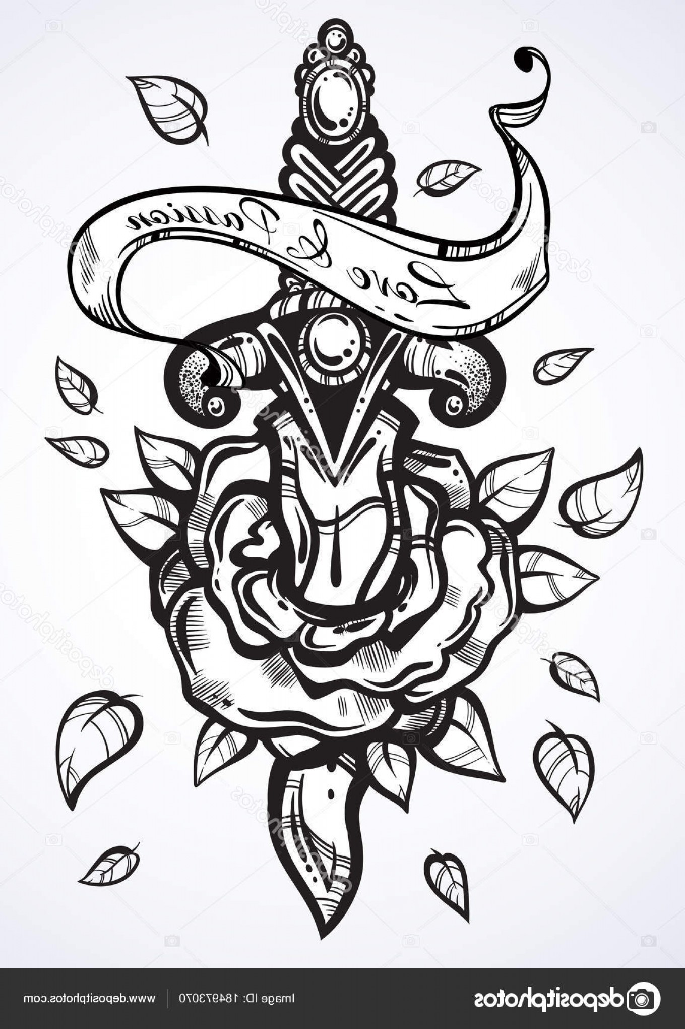 Detailed Tattoo Vector Images: Stock Illustration Hand Drawn Vector Illustration Of
