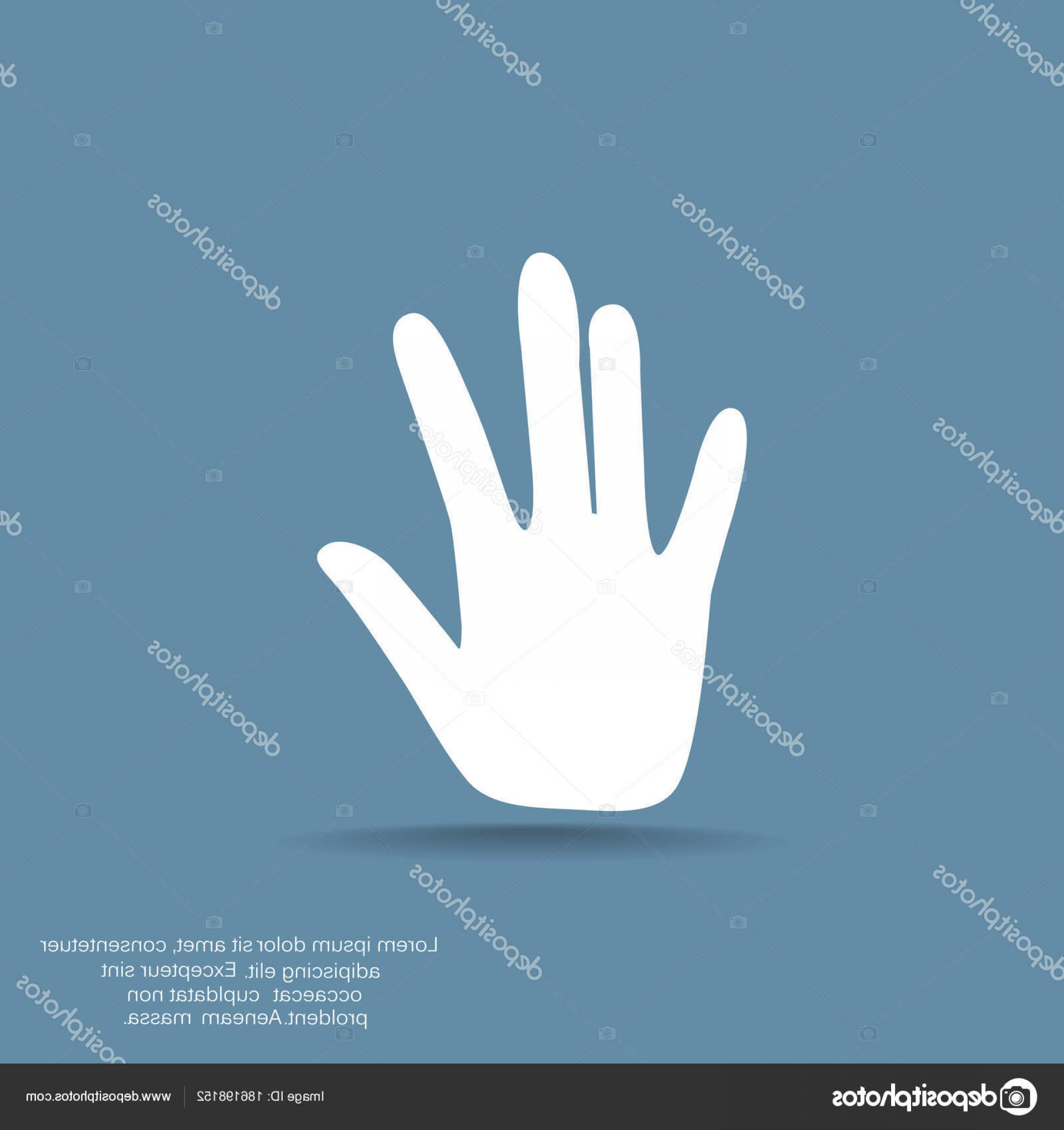 Hand Stop Vector Teal: Stock Illustration Hand Stop Web Icon Vector