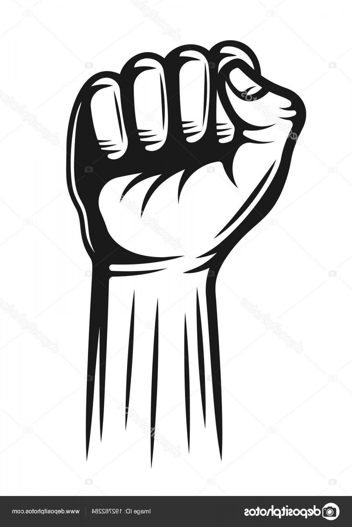 Hand Fist Vector: Stock Illustration Hand With Fingers Folded Into