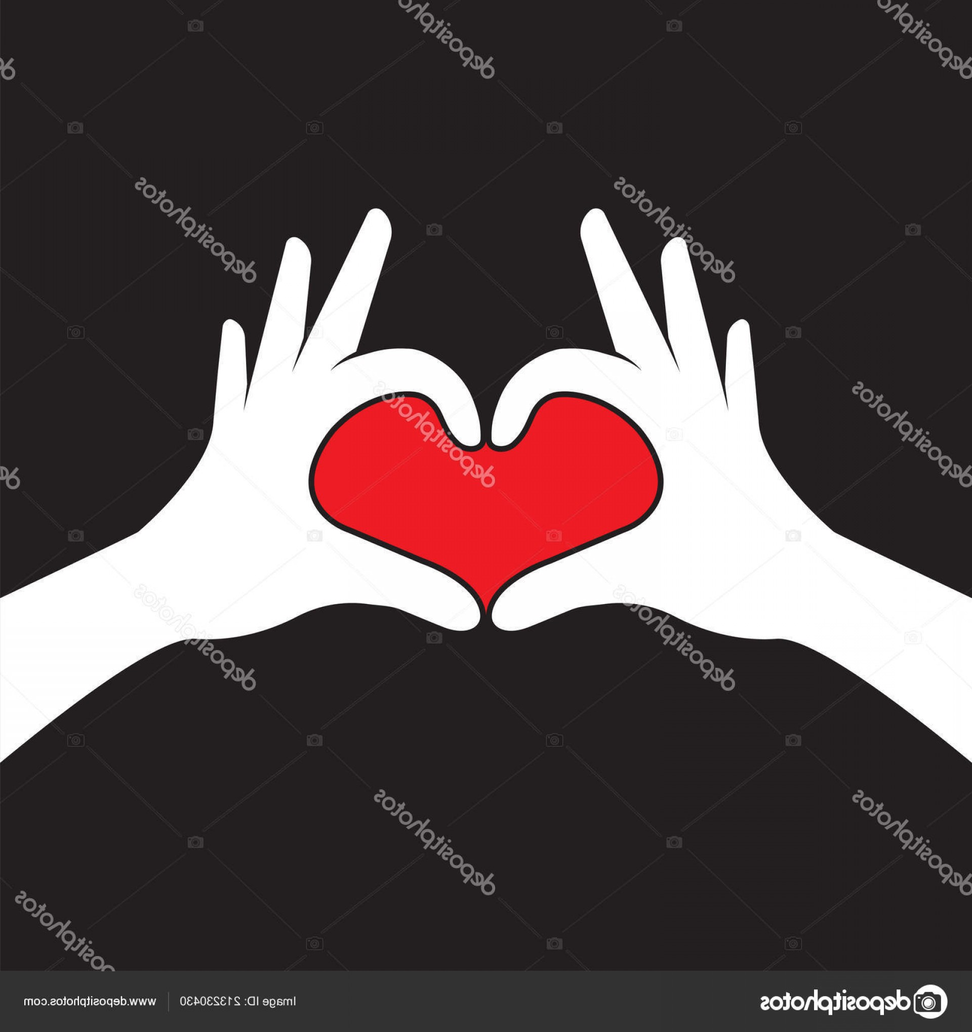 Vector Vector Heart Shaped Hands: Stock Illustration Hands Making Heart Shape Valentines