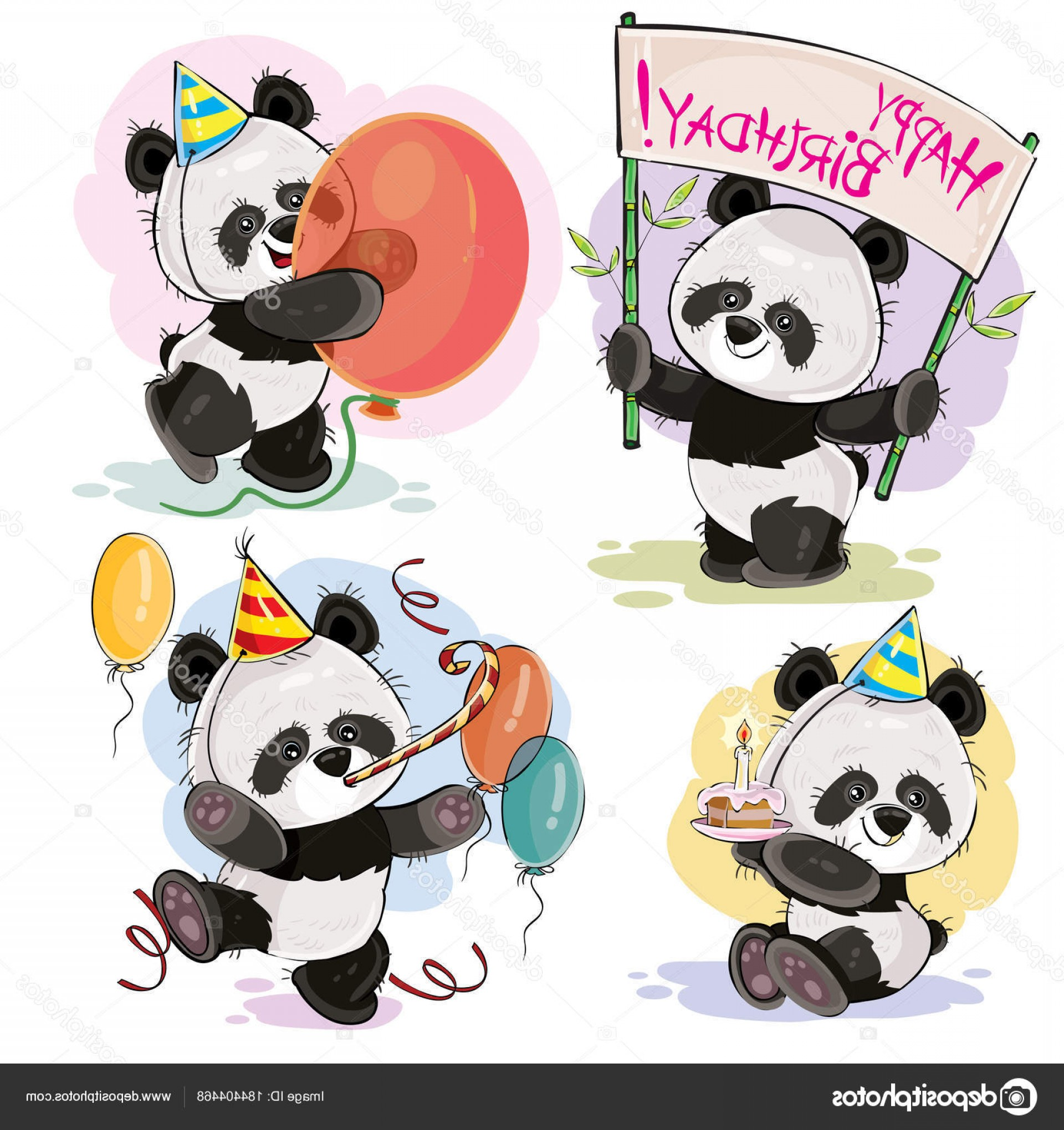 Happy Workplace Anniversary Vector: Stock Illustration Happy Birthday Vector Set With