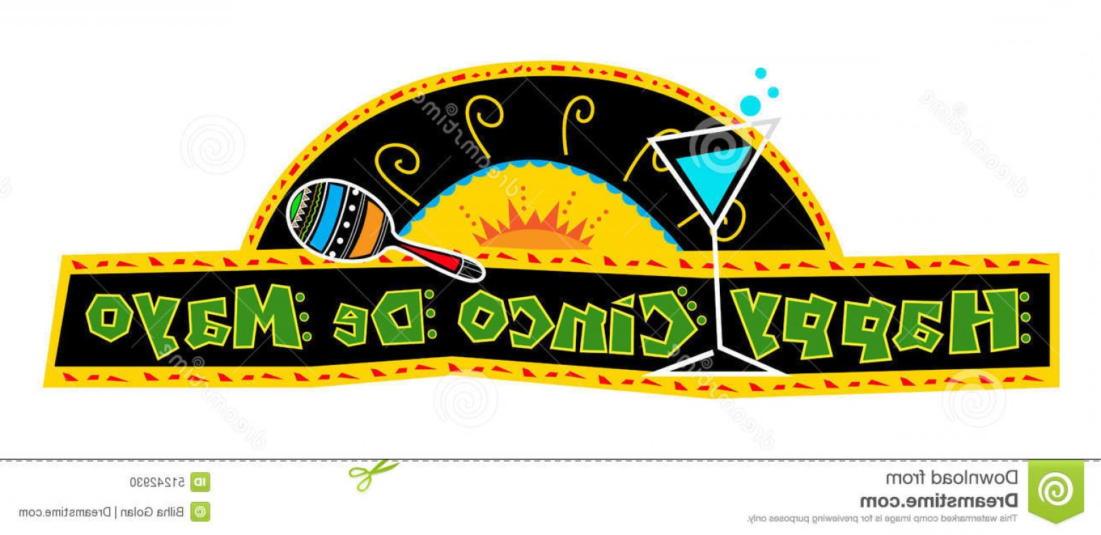 Cinco De Mayo Vector Graphics: Stock Illustration Happy Cinco De Mayo Banner Mexican Art Style Made Bold Colors Includes Decorative Text Mexican Elements Black Image