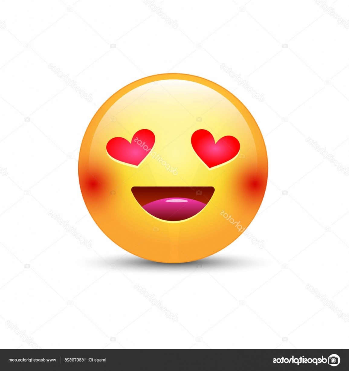 Popular Vector Emoji: Stock Illustration Happy Loving Emoticon Face With