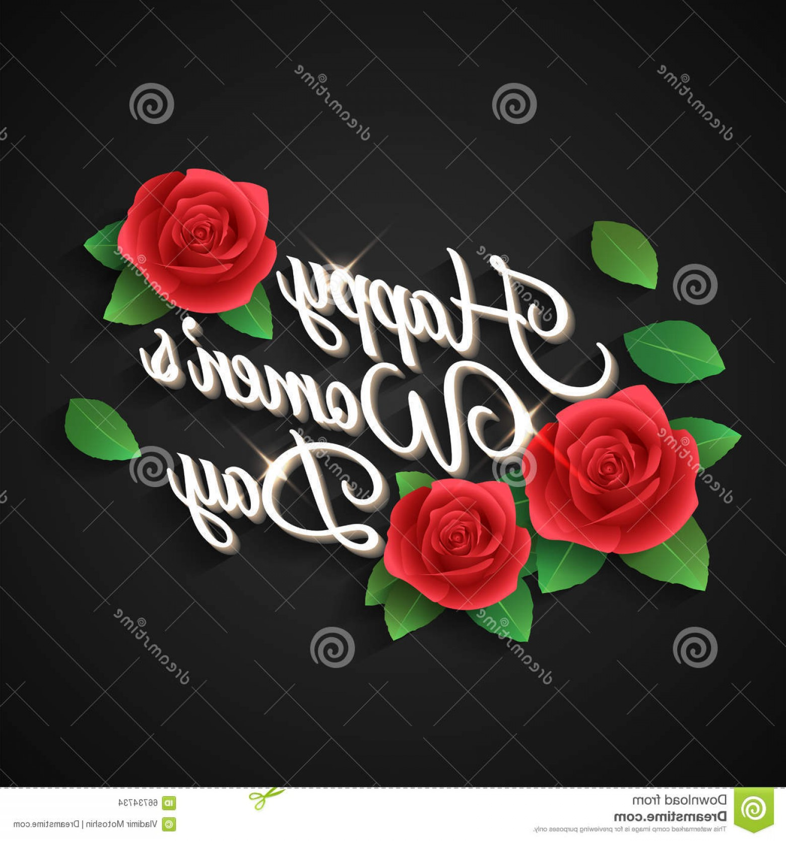 Women With Roses Vector: Stock Illustration Happy Womens Day Rose Inscription Women S Petals Vector Image