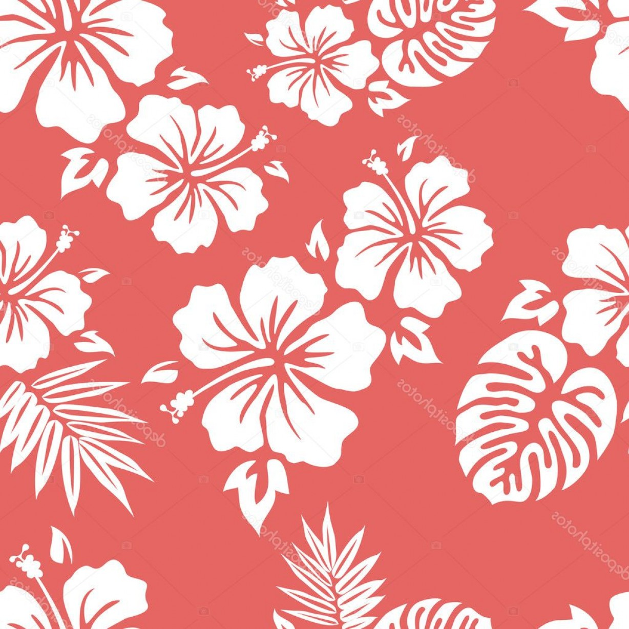 Hawaiian Pattern Vector: Stock Illustration Hawaiian Aloha Shirt Pattern