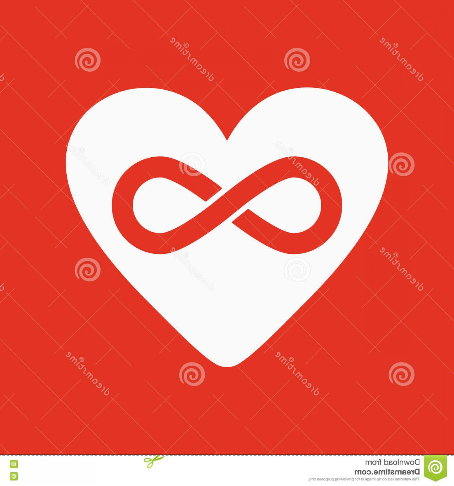 Vector Infinity Symbol Hearts: Stock Illustration Heart Infinity Icon Heart Infinity Symbol Flat Vector Illustration Image