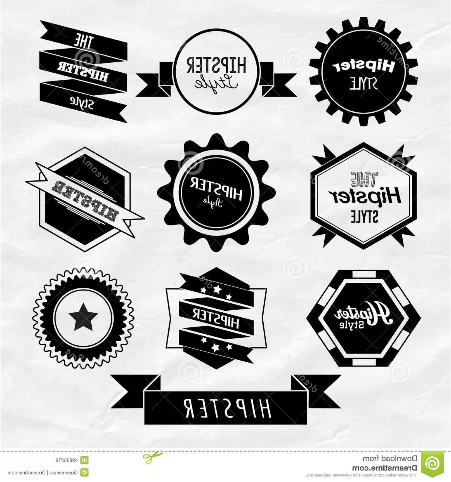 Free Vector Hipster: Stock Illustration Hipster Label Badge Icon Vector Design Trendy Image