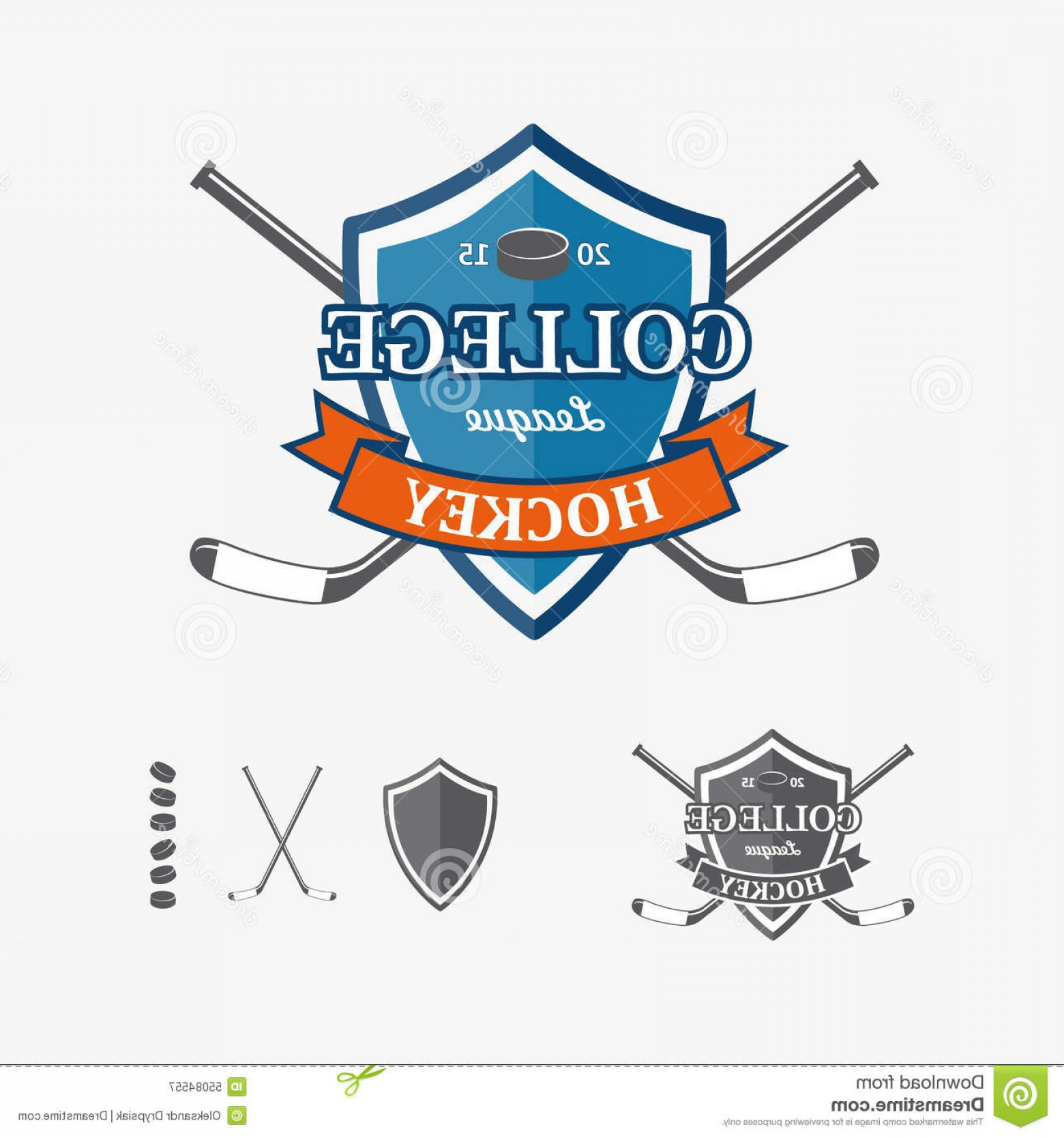 Hockey Teams Logo Vectors: Stock Illustration Hockey Sports Emblems Symbols Team Logo Vector Design Element Business Card Template Image