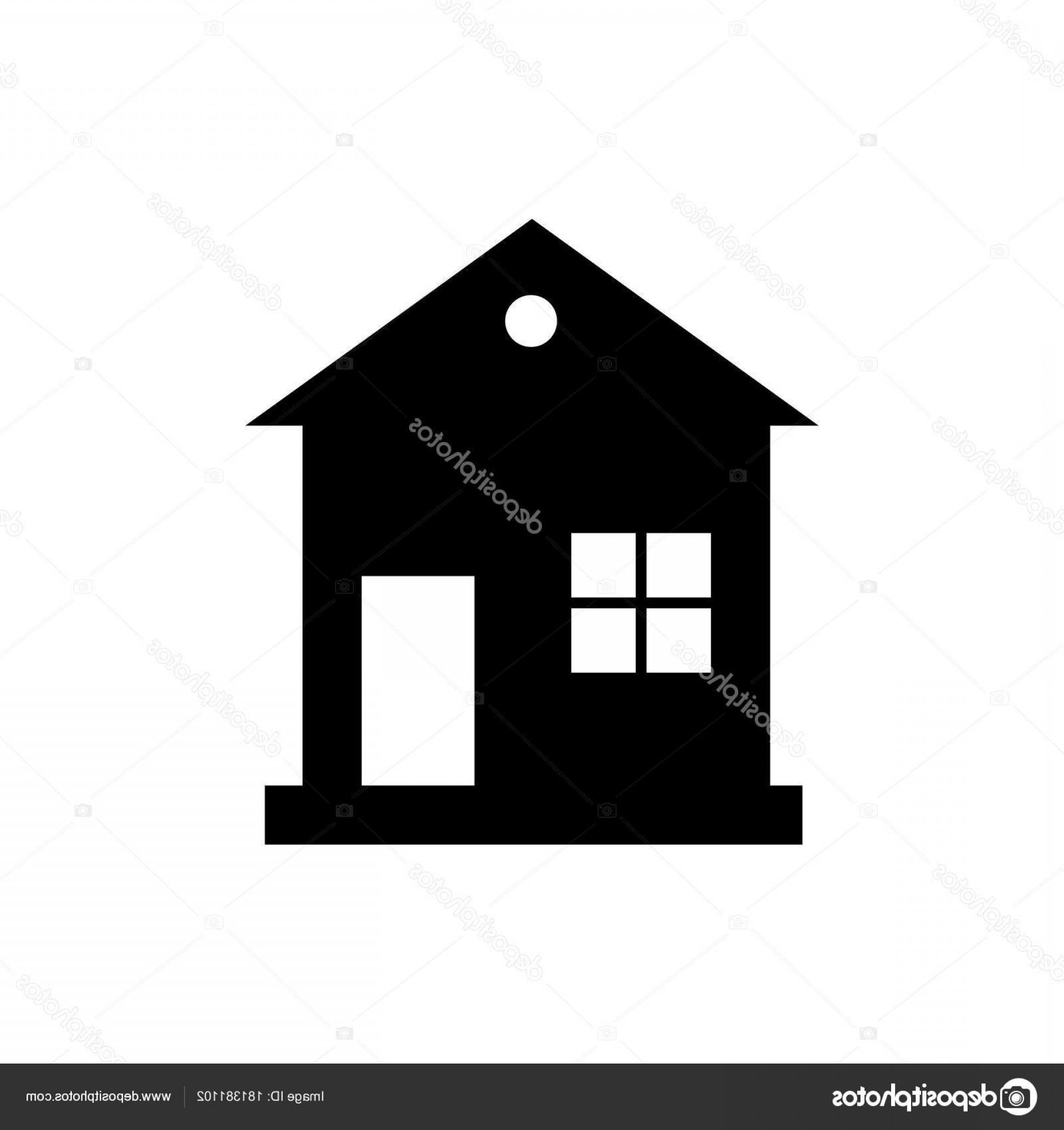 Vector House Sign: Stock Illustration Home Icon Vector House Enter