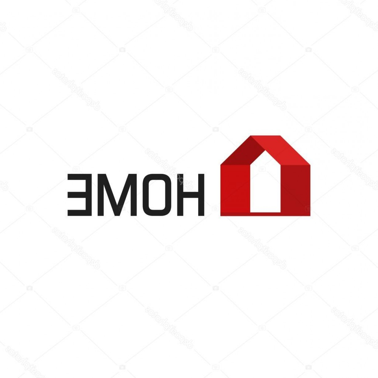 Home Logo Vector: Stock Illustration Home Logo Vector Isolated Geometric
