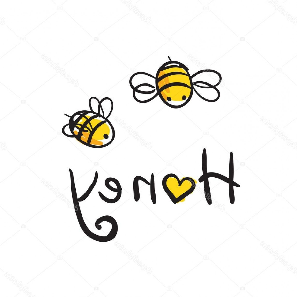 Vector Bee Icon: Stock Illustration Honey And Bees Icon