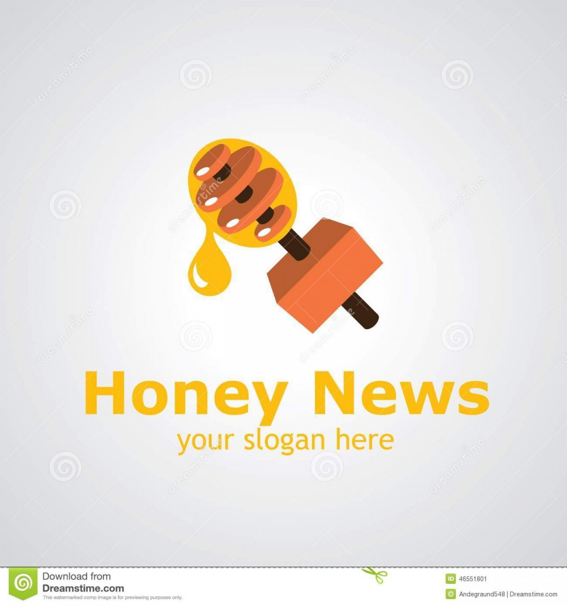 News Microphone Icon Vector: Stock Illustration Honey News Vector Logo Design Reporter Microphone As Stick Icon Idea Brand Image