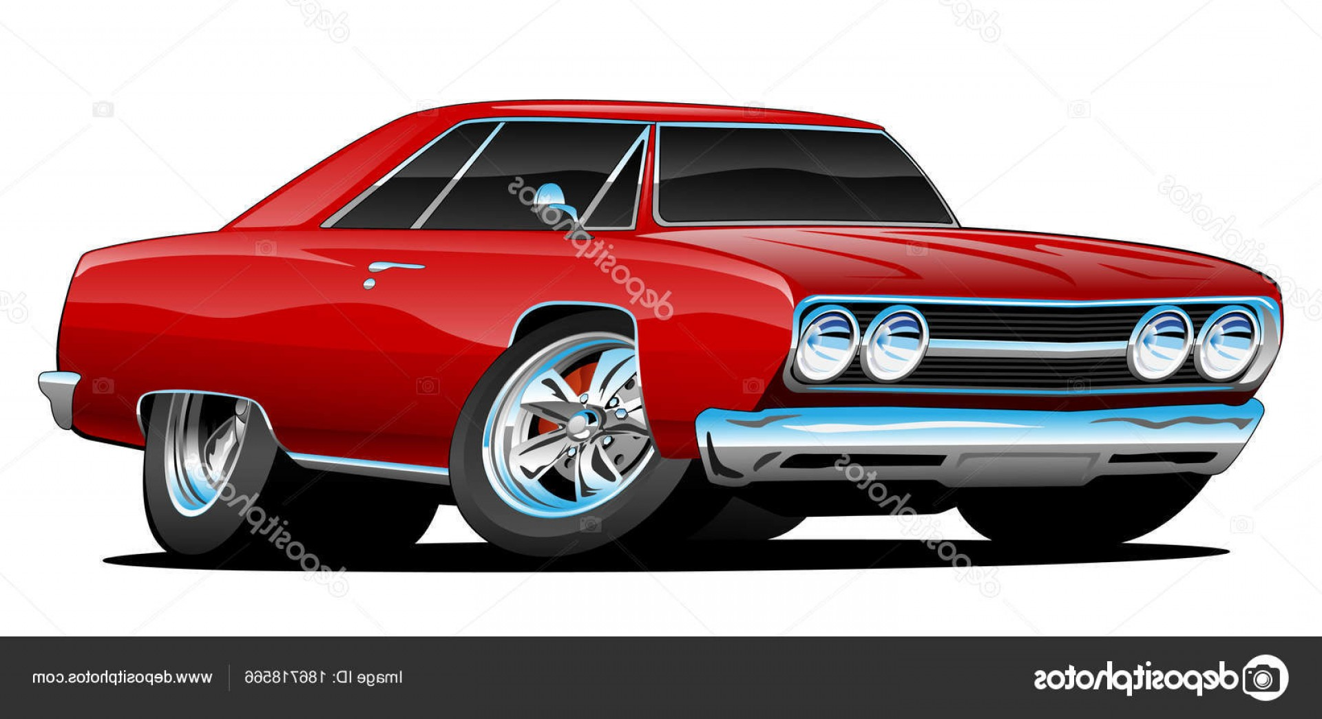 Classic Street Rod Vector Art: Stock Illustration Hot Looking Vintage Style
