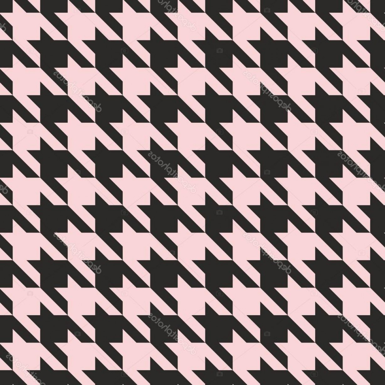 Pink And Black Houndstooth Vector: Stock Illustration Houndstooth Seamless Vector Pastel Pink